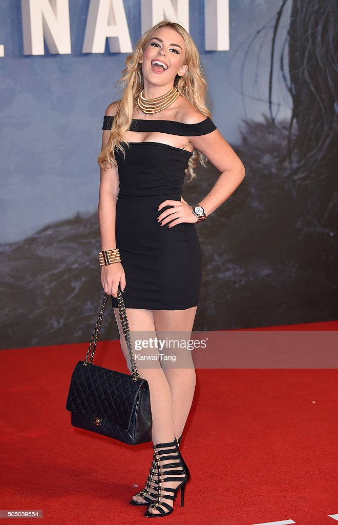 Tallia Storm attends UK Premiere of 'The Revenant' at Empire Leicester Square on January 14, 2016 in London, England.