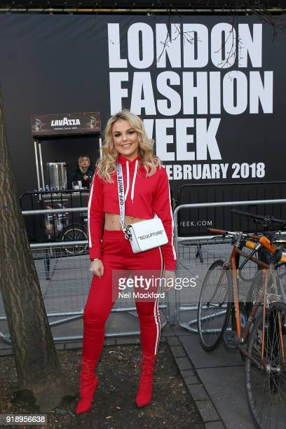 Tallia Storm during London Fashion Week February 2018 at BFC Show Space on February 16 2018 in London England