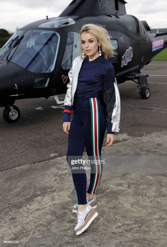 Tallia Storm during the MTV 'Single AF' Photocall at Elstree Studios on October 13, 2017 in Borehamwood, England. Seven celebrities embark on the global hunt for love with the help from their social media followers.