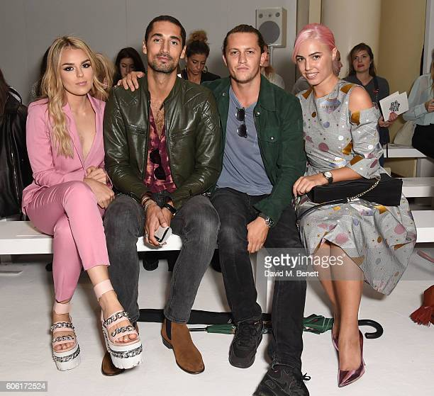 Tallia Storm Hugo Taylor Charlie Morris and Amber Le Bon attend the DAKS runway show during London Fashion Week Spring/Summer collections 2017 on...