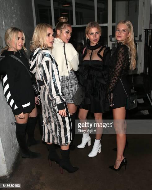 Tallia Storm Jasmine Sanders and Lottie Moss seen at LFW s/s 2018 OffWhite x Mytheresacom intimate dinner at St John Bar Restaurant during London...