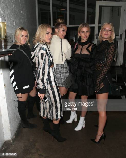 Tallia Storm Jasmine Sanders and Lottie Moss seen at LFW s/s 2018 OffWhite x Mytheresacom intimate dinner at St John Bar Restaurant during London...