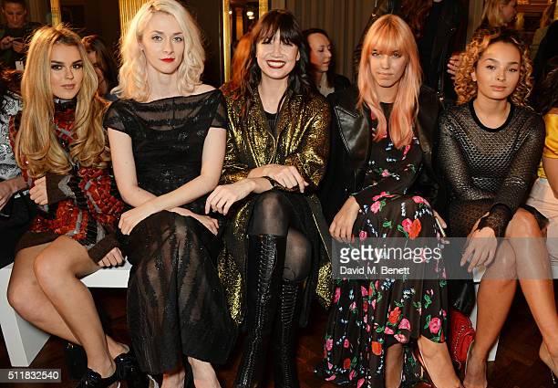 Tallia Storm Portia Freeman Daisy Lowe Amber Le Bon and Ella Eyre attend the Emilio de la Morena show during London Fashion Week Autumn/Winter...