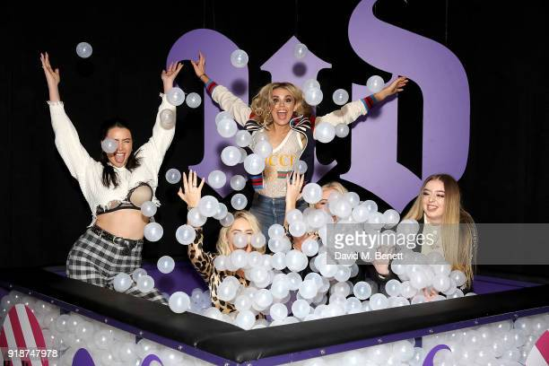 Tallia Storm Saffron Barker and guests attend the Urban Decay Collection Launch at The Curtain on February 15 2018 in London England