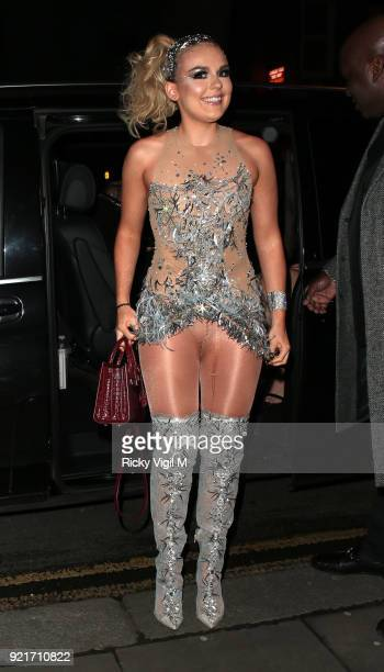 Tallia Storm seen attending the London Fabulous Fund Fair at Roundhouse during LFW February 2018 on February 20 2018 in London England