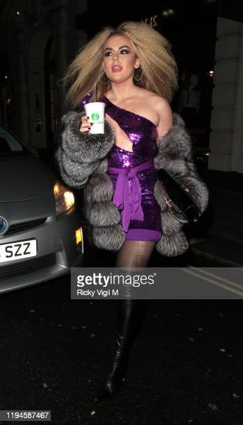 Tallia Storm seen attending Tramp's Christmas Party in celebration of their 50th Anniversary on December 17 2019 in London England