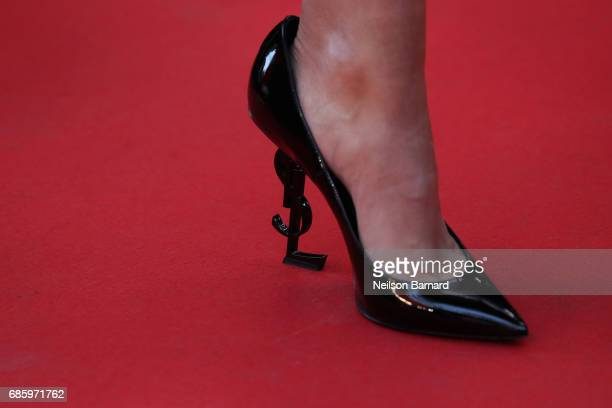 Tallia Storm shoe detail attends the '120 Beats Per Minute ' screening during the 70th annual Cannes Film Festival at Palais des Festivals on May 20...