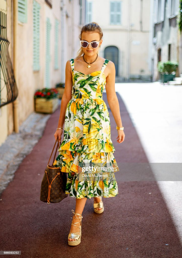 Tallia Storm Street Style - 70th International Cannes Film Festival