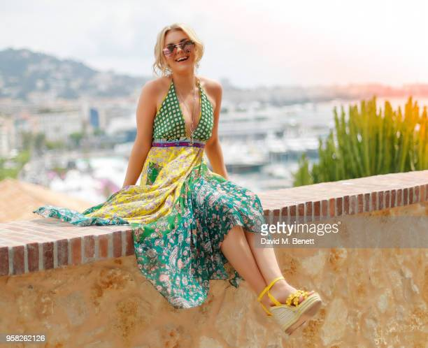 Tallia Storm wearing Zara dress GB Monaco jewellery and Asos shoes during the 71st Annual Cannes Film Festival on May 14 2018 in Cannes France