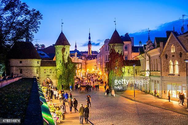 tallin city gates, estonia - tallinn stock pictures, royalty-free photos & images