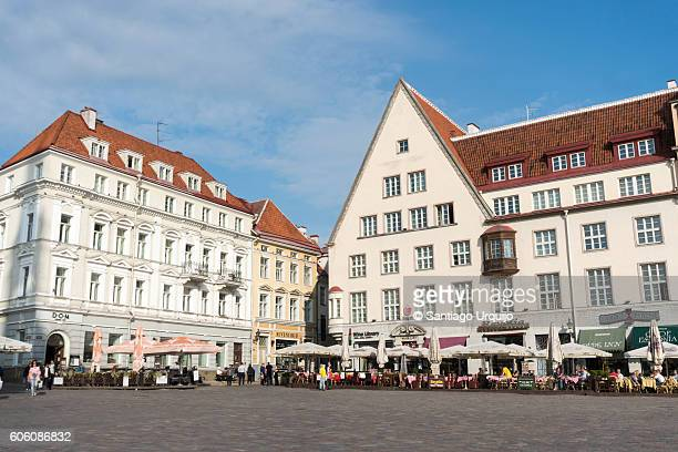 tallinn town hall square - town hall square stock pictures, royalty-free photos & images