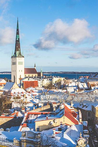 tallinn view - harjumaa stock pictures, royalty-free photos & images