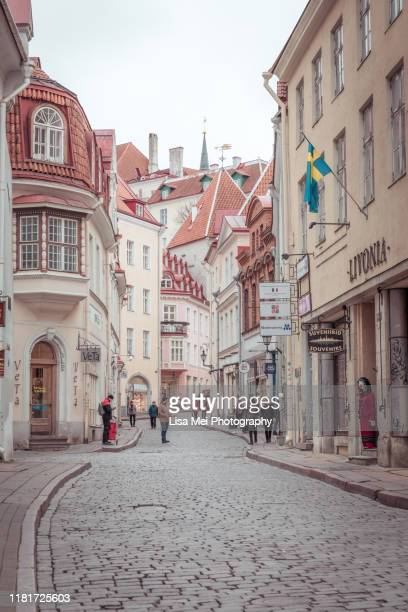 tallinn's old town - tallinn stock pictures, royalty-free photos & images