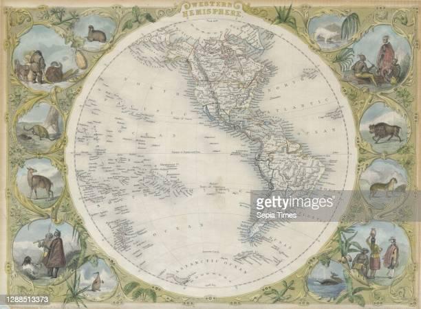 Tallis Map of the Western Hemisphere.