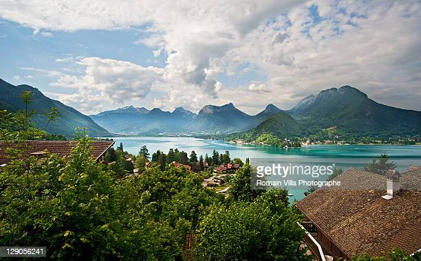 talloires - lac d'annecy - haute-savoie - lake annecy stock photos and pictures