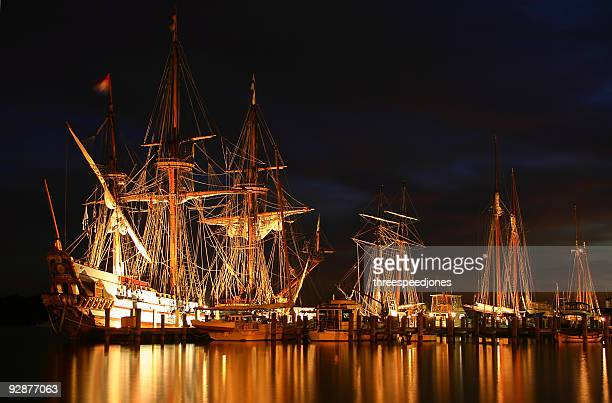 tallships - pirate ship stock photos and pictures
