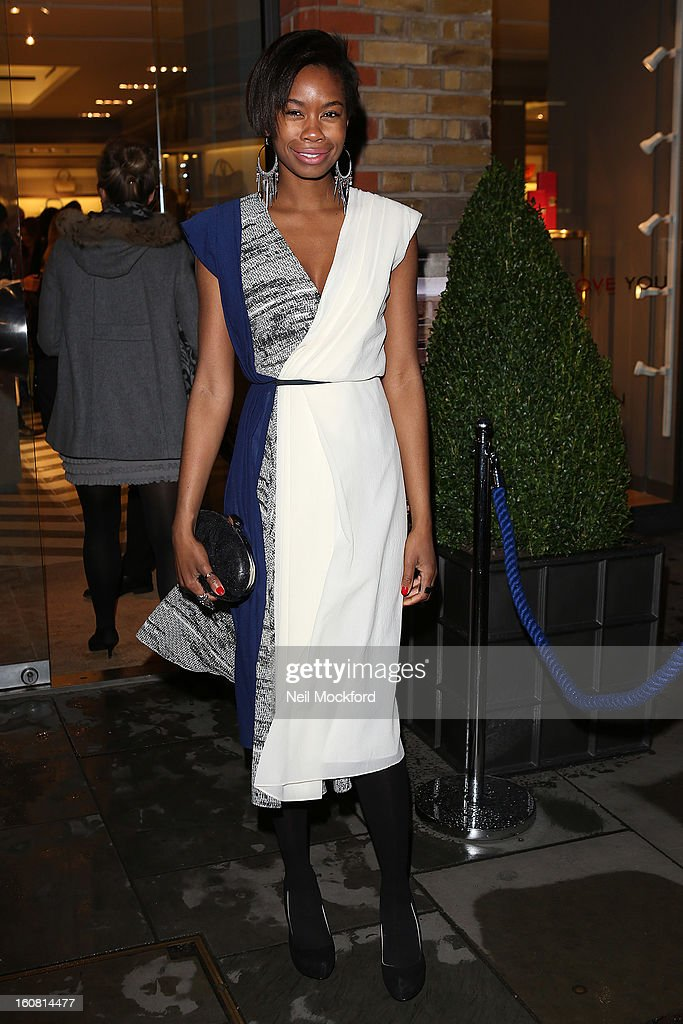 Tallulah Adeyemi attends the Smythson of Bond Street's afternoon tea party, celebrating the opening of their new Sloane Street store on February 6, 2013 in London, England.