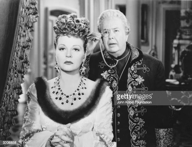 Tallulah Bankhead and Charles Coburn play Russian Empress Catherine the Great and her Chancellor in 'A Royal Scandal' directed by Ernst Lubitsch and...