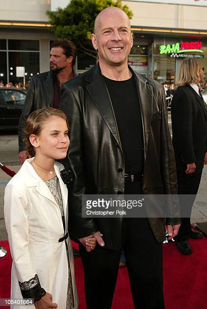 Tallulah Belle Willis and Bruce Willis during The Whole Ten Yards World Premiere at Grauman's Chinese Theatre in Hollywood CA United States