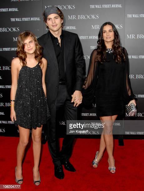 Tallulah Belle Willis, Ashton Kutcher and Demi Moore