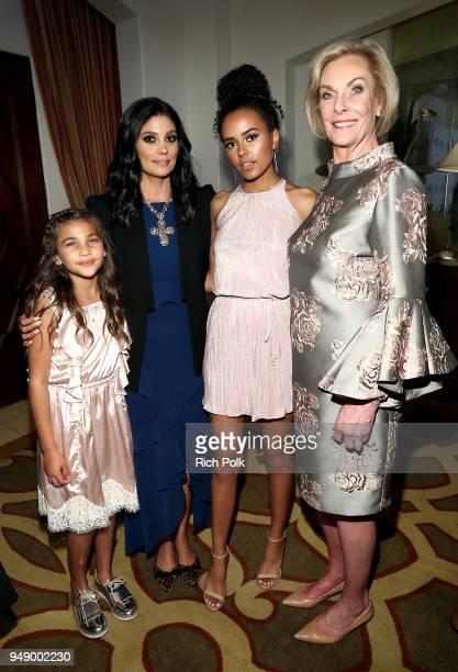 Tallulah Dash Rachel Roy Ava Dash and World of Children CoFounder Kay Isaacsonleibowitz attend the 2018 World of Children Hero Awards Benefit at...