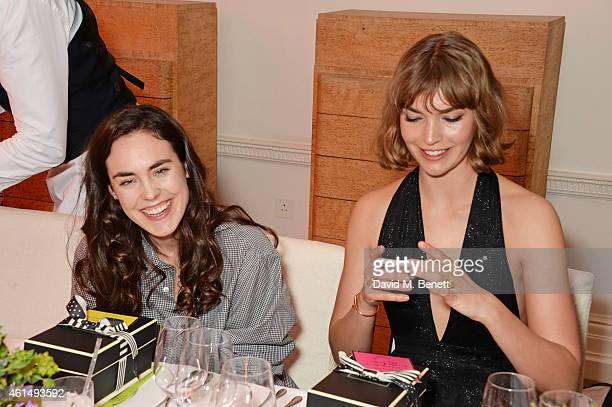 Tallulah Harlech and Arizona Muse attend a dinner hosted by Jo Malone London and Tallulah Harlech to launch the 'Just Because' campaign on January 13...