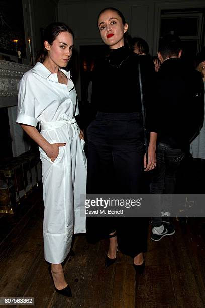 Tallulah Harlech and Barbara Casasola attends the launch of i-D's 'The Female Gaze' issue hosted by Holly Schkleton and Adwoa Aboah during London...