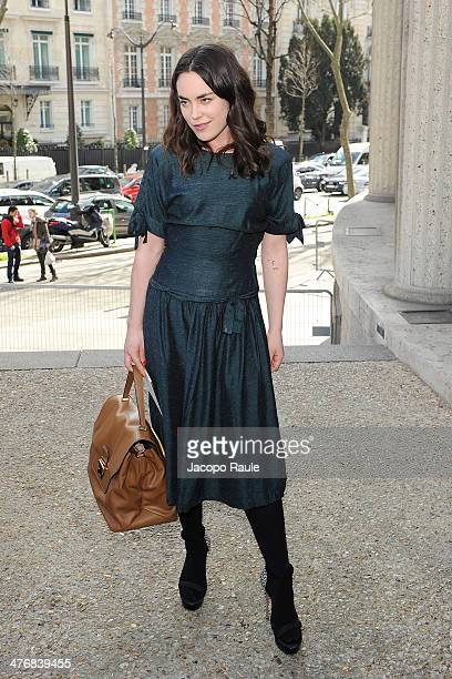 Tallulah Harlech arrives at the Miu Miu show as part of the Paris Fashion Week Womenswear Fall/Winter 20142015 on March 5 2014 in Paris France