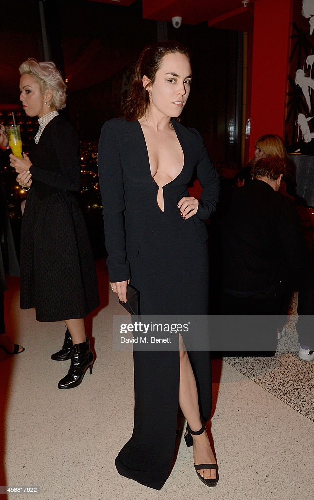 Tallulah Harlech attends as Sushisamba celebrates its second anniversary with a performance by Lily Allen and a VIP party at Sushi Samba on November 11, 2014 in London, England.
