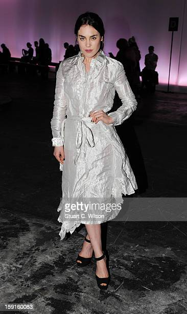 Tallulah Harlech attends the JW Anderson show at the London Collections MEN AW13 at The Old Sorting Office on January 9 2013 in London England