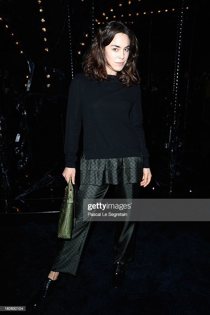 Tallulah Harlech attends the Louis Vuitton show as part of the Paris Fashion Week Womenswear Spring/Summer 2014 at Le Carre du Louvre on October 2, 2013 in Paris, France.