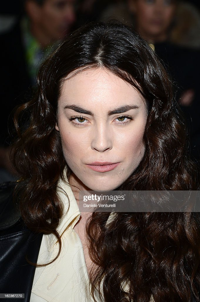 Tallulah Harlech attends the Versace fashion show during Milan Fashion Week Womenswear Fall/Winter 2013/14 on February 22, 2013 in Milan, Italy.