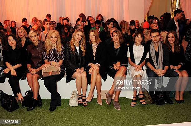 Tallulah Harlech Elisabeth von Thurn und Taxis Juno Temple Brit Marling Lea Seydoux Rebecca Hall Alexa Chung Douglas Booth and Tanya Burr attend the...