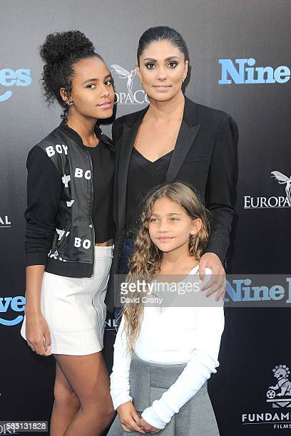 Tallulah Ruth Dash Rachel Roy and Ava Dash attend the Nine Lives World Premiere at TCL Chinese Theatre on August 1 2016 in Hollywood California