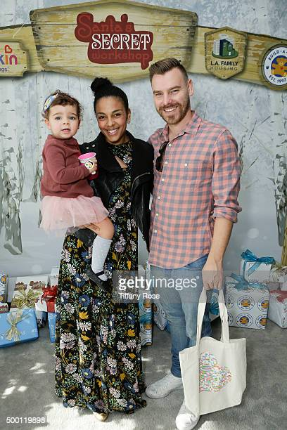 Tallulah Sykes actress Marsha Thomason Craig Sykes 2015 Santa's Secret Workshop Benefiting LA Family Housing at Andaz Hotel on December 5 2015 in Los...
