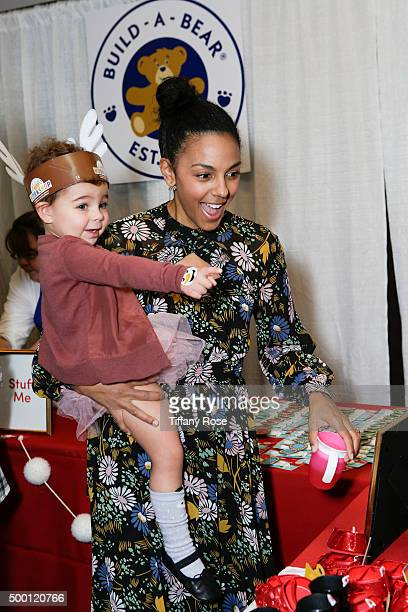 Tallulah Sykes and actress Marsha Thomason attend 2015 Santa's Secret Workshop Benefiting LA Family Housing at Andaz Hotel on December 5 2015 in Los...