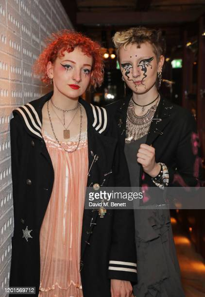 Tallulah Turner Fray and Oshen Dee attend the LOVE Magazine LFW Party celebrating issue 23 at The Standard London on February 17 2020 in London...