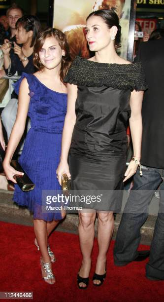 Tallulah Willis and Demi Moore during Live Free or Die Hard New York City Primiere Arrivals at Radio City Music Hall at 1260 Avenue of the Americas...