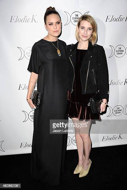 Tallulah Willis and Emma Roberts attend the launch of 'The Clothing Coven' at Elodie K on April 4 2014 in West Hollywood California