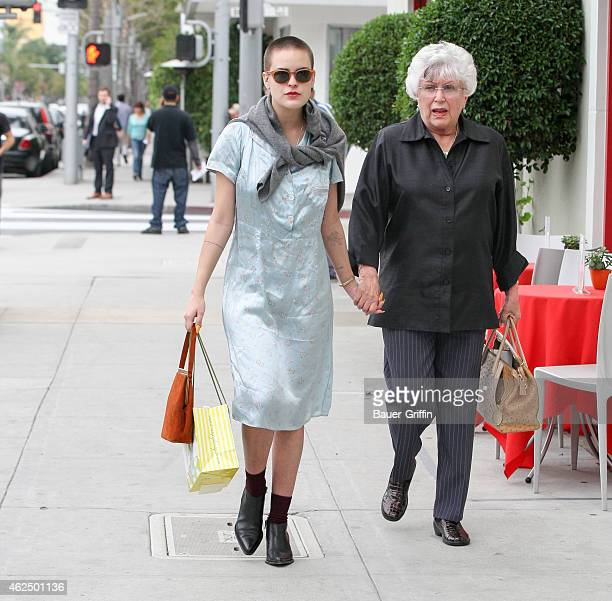 Tallulah Willis and Grandmother Marlene Willis are seen in Los Angeles on January 29 2015 in Los Angeles California