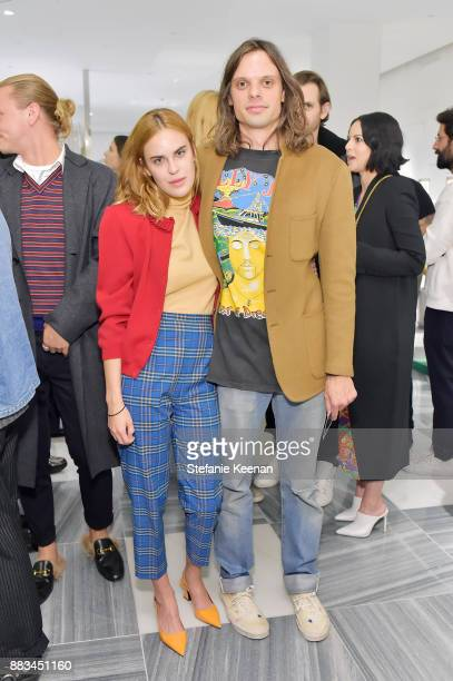 Tallulah Willis and Nikolai Haas attend Barneys New York Celebrates Haas for the Holidays Hosted by Matthew Mazzucca Nikolai Haas and Simon Haas at...