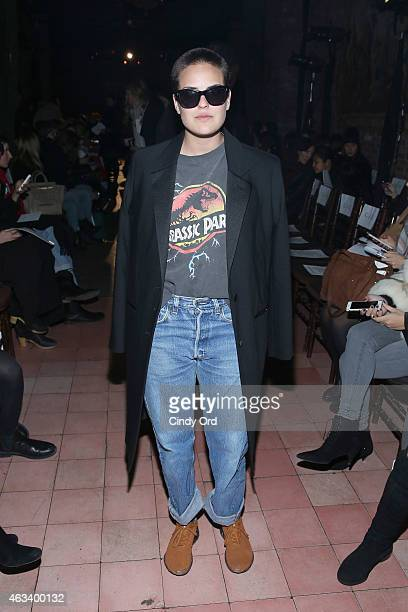 Tallulah Willis attends the Rodebjer fashion show during MercedesBenz Fashion Week Fall 2015 at The Bowery Hotel on February 13 2015 in New York City