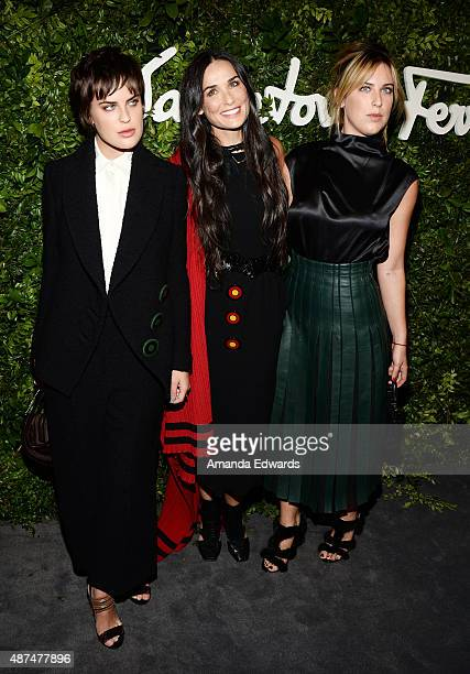 Tallulah Willis Demi Moore and Scout Willis arrive at the Salvatore Ferragamo 100 Years In Hollywood celebration at the newly unveiled Rodeo Drive...