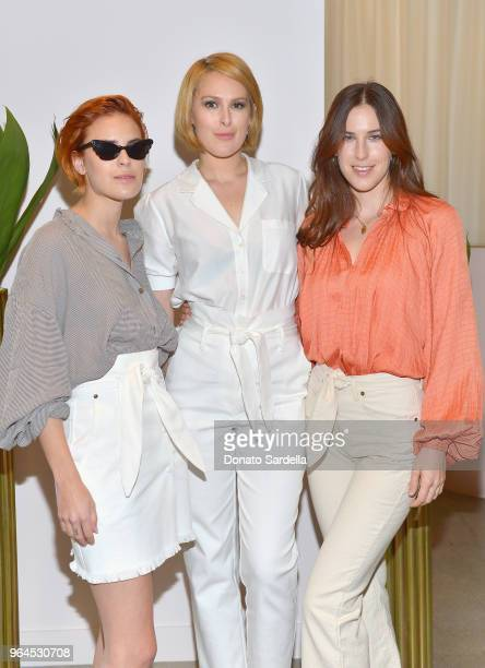 Tallulah Willis, Rumer Willis and Scout Willis attend Nanushka Dinner Hosted by Sandra Sandor and Peter Baldaszti on May 30, 2018 in Culver City,...