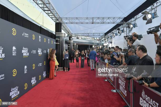 Tallulah Willis, Rumer Willis and Scout Willis attend the Comedy Central Roast of Bruce Willis at Hollywood Palladium on July 14, 2018 in Los...