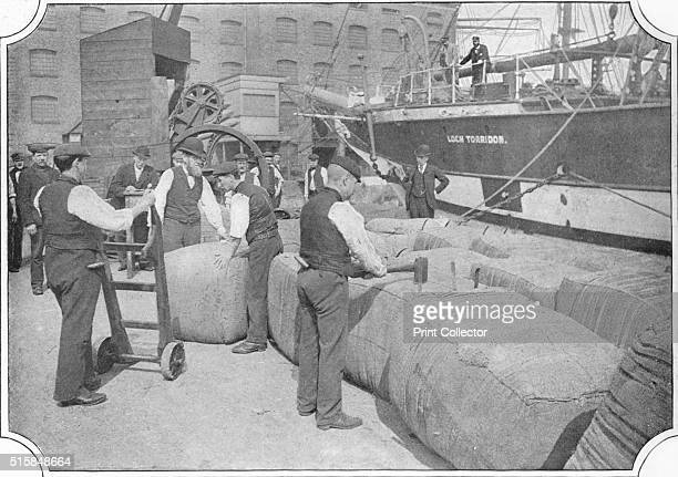 Tallying wool bales at London Docks circa 1900 From Living London Vol 1 edited by George R Sims [Cassell and Company Limited London Paris New York...