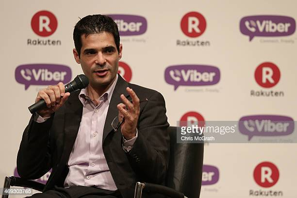 Talmon Marco chief executive officer of Viber speaks to the press after the annoncement that Rakuten Inc will aquire Viber during a press conference...