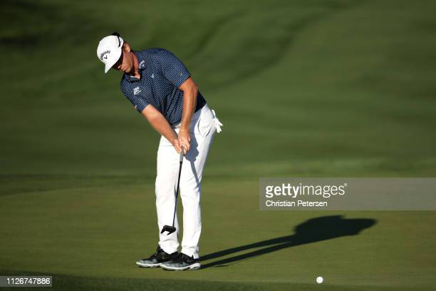 Talor Gooch attempts a putt on the 12th green during the second round of the Waste Management Phoenix Open at TPC Scottsdale on February 01 2019 in...
