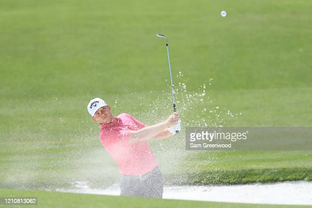 Talor Gooch of the United States plays a shot from a bunker on the second hole during the second round of the Arnold Palmer Invitational Presented by...