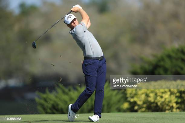 Talor Gooch of the United States plays his shot from the eighth tee during the first round of the Arnold Palmer Invitational Presented by MasterCard...